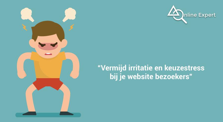 website slider nadelen - UX irritatie